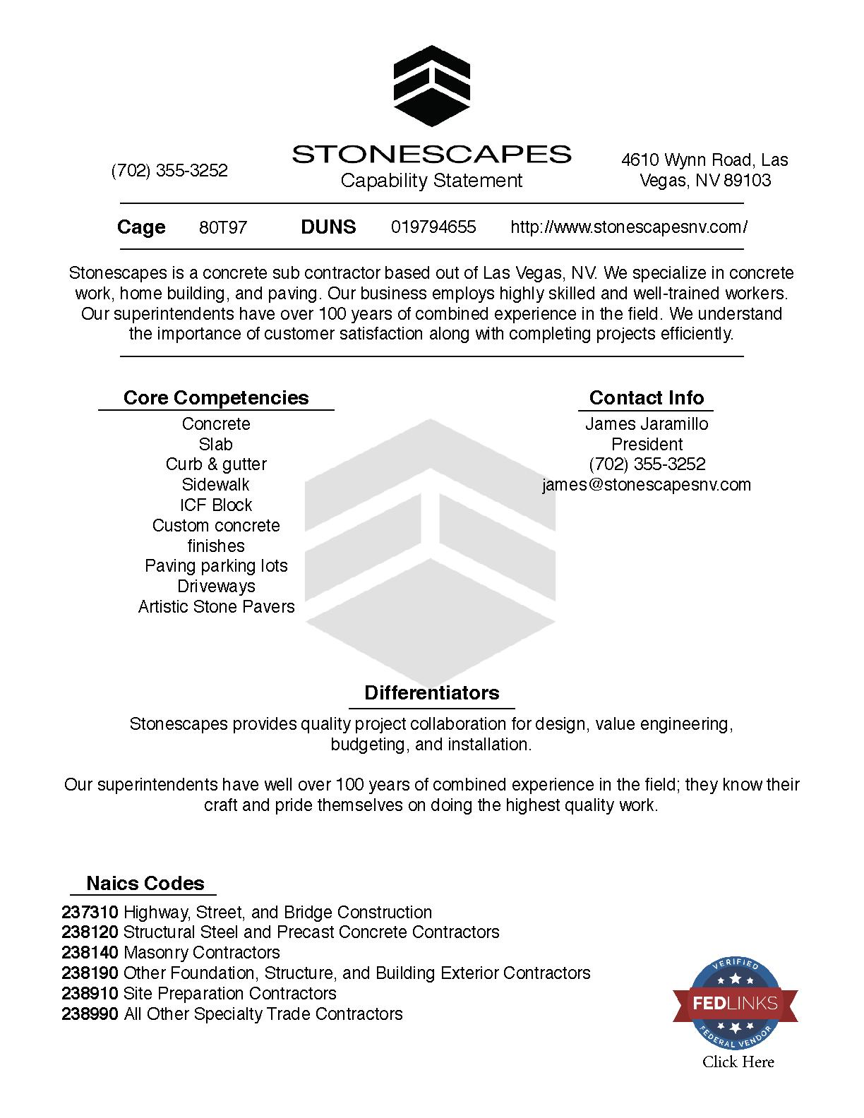 Stonescapes capability statement