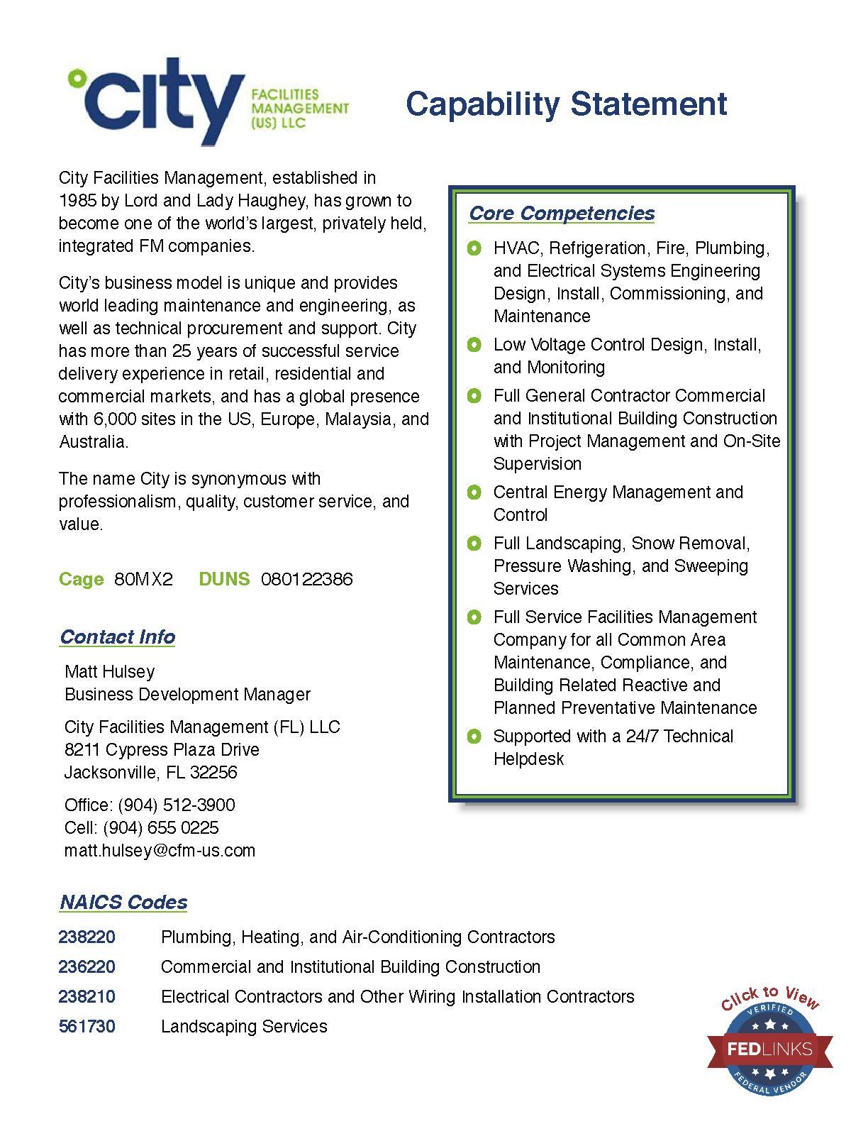 Engineering Design Management Llc: City Facilities Management LLCrh:fedlinks.com,Design