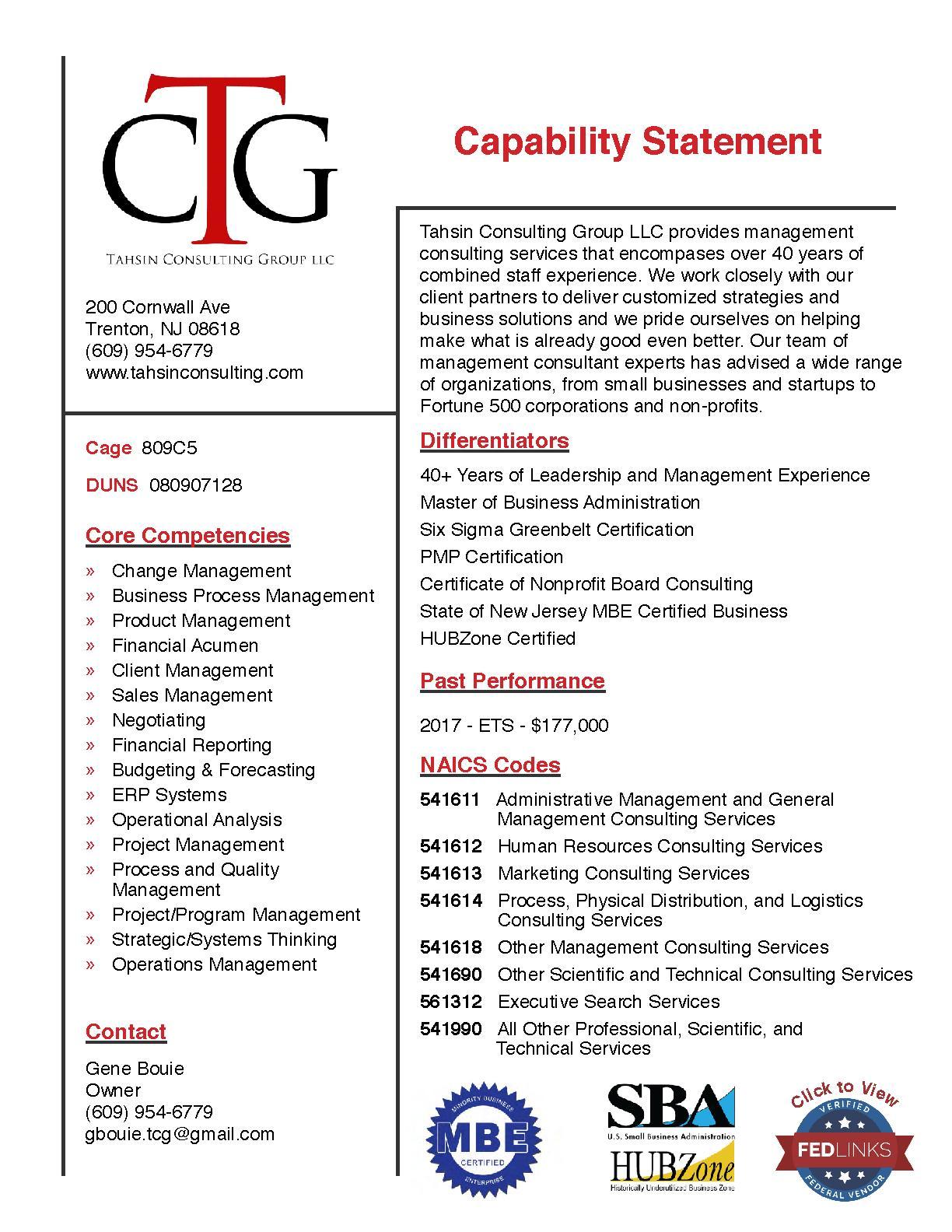 Fedlinks Tahsin Consulting Group Llc Trenton Nj 08618