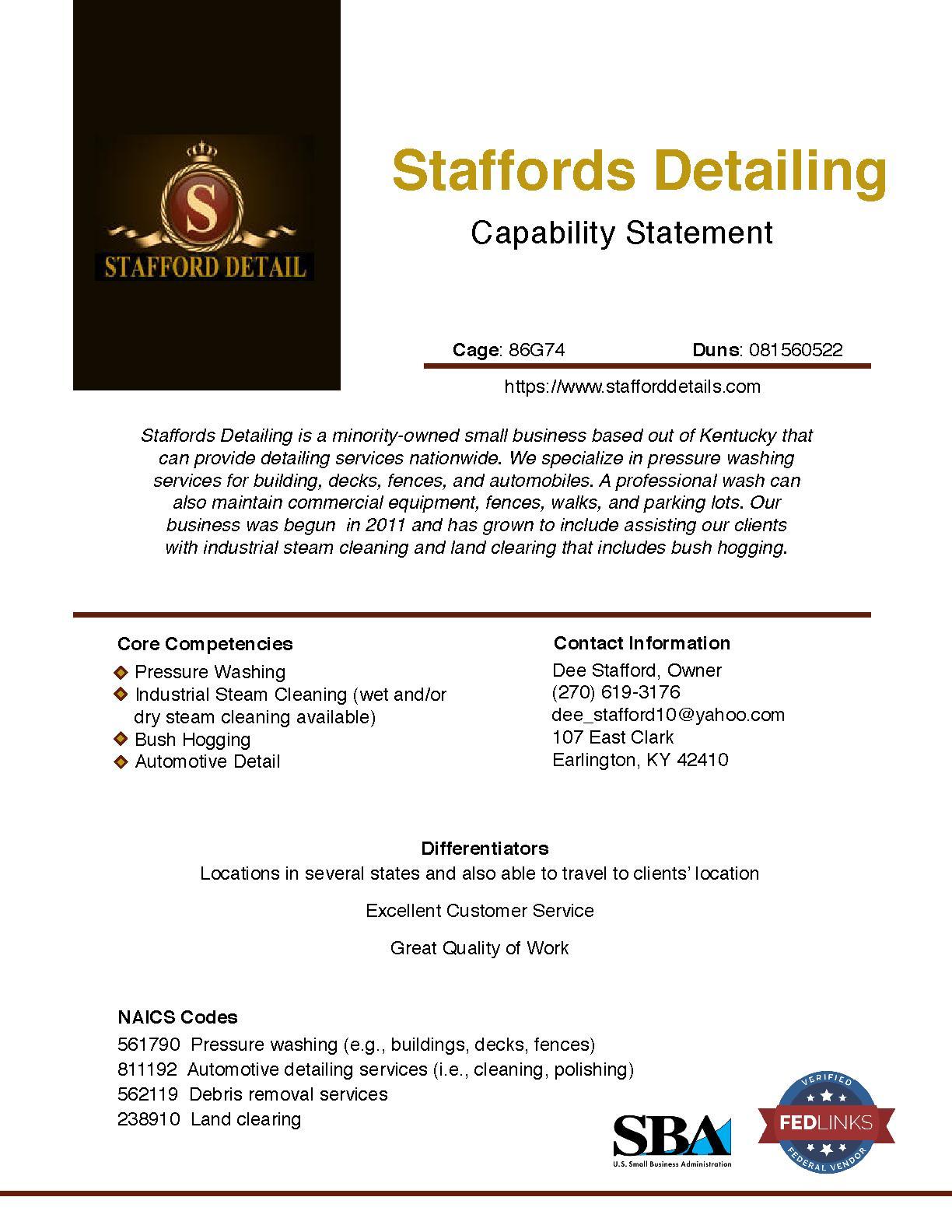 Staffords detailing