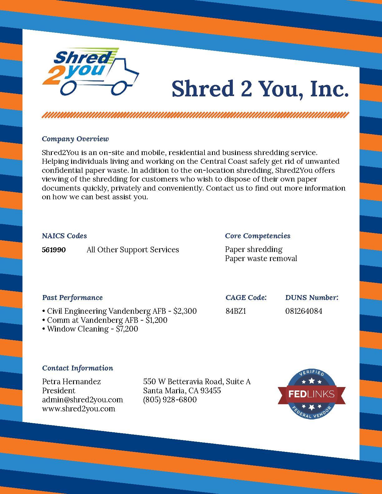 Shred 2 You, Inc