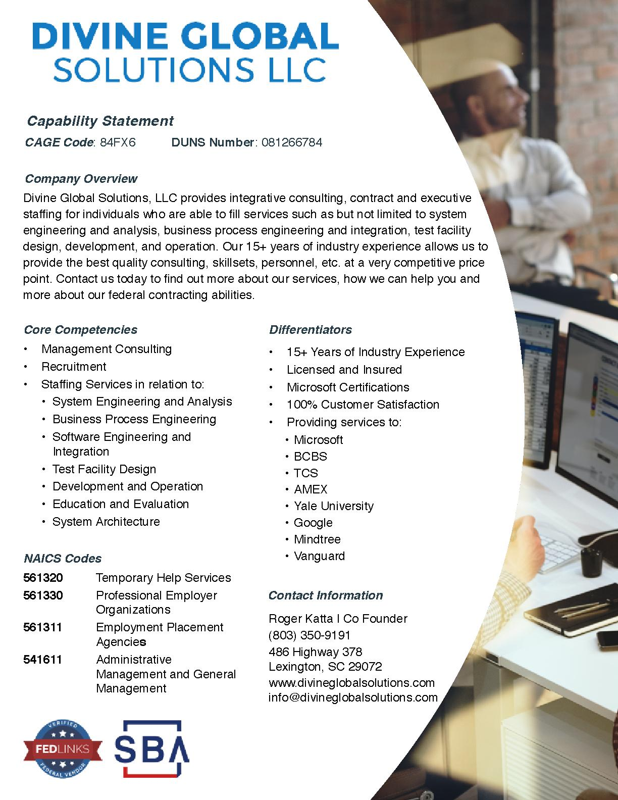 Divine global solutions capability statement