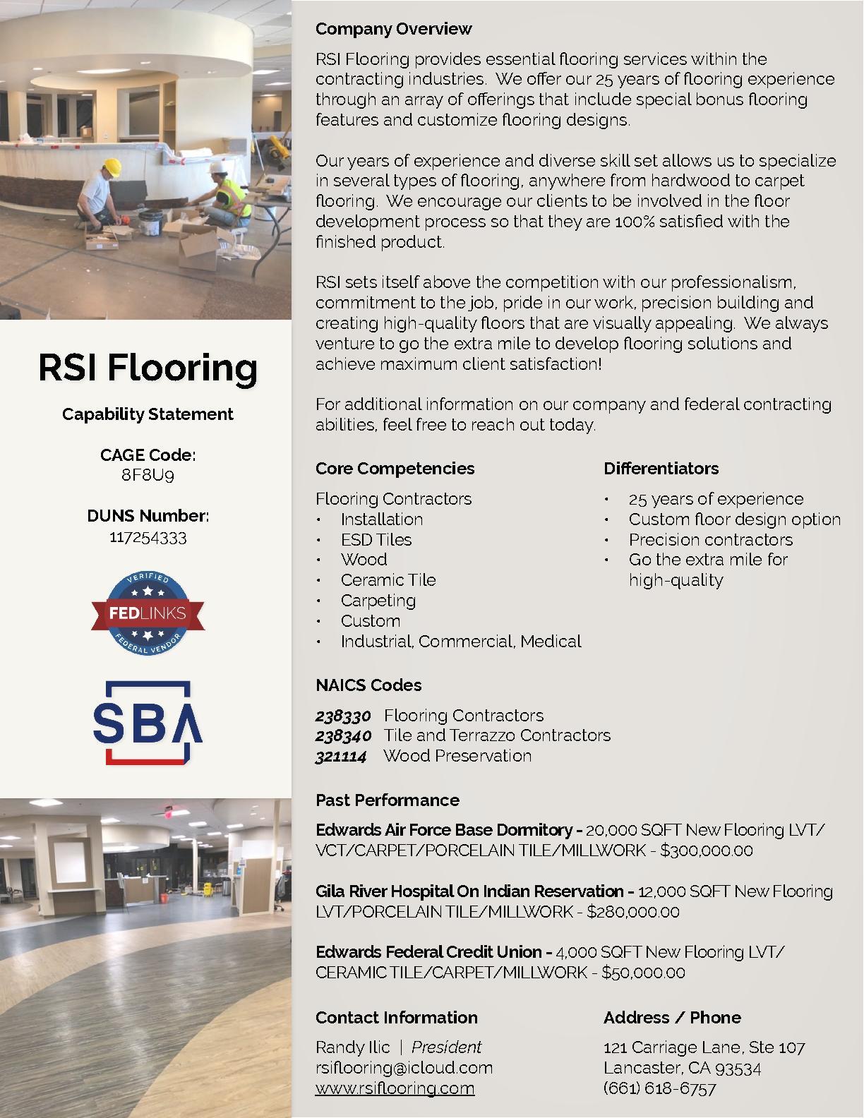 Rsi flooring capability statement