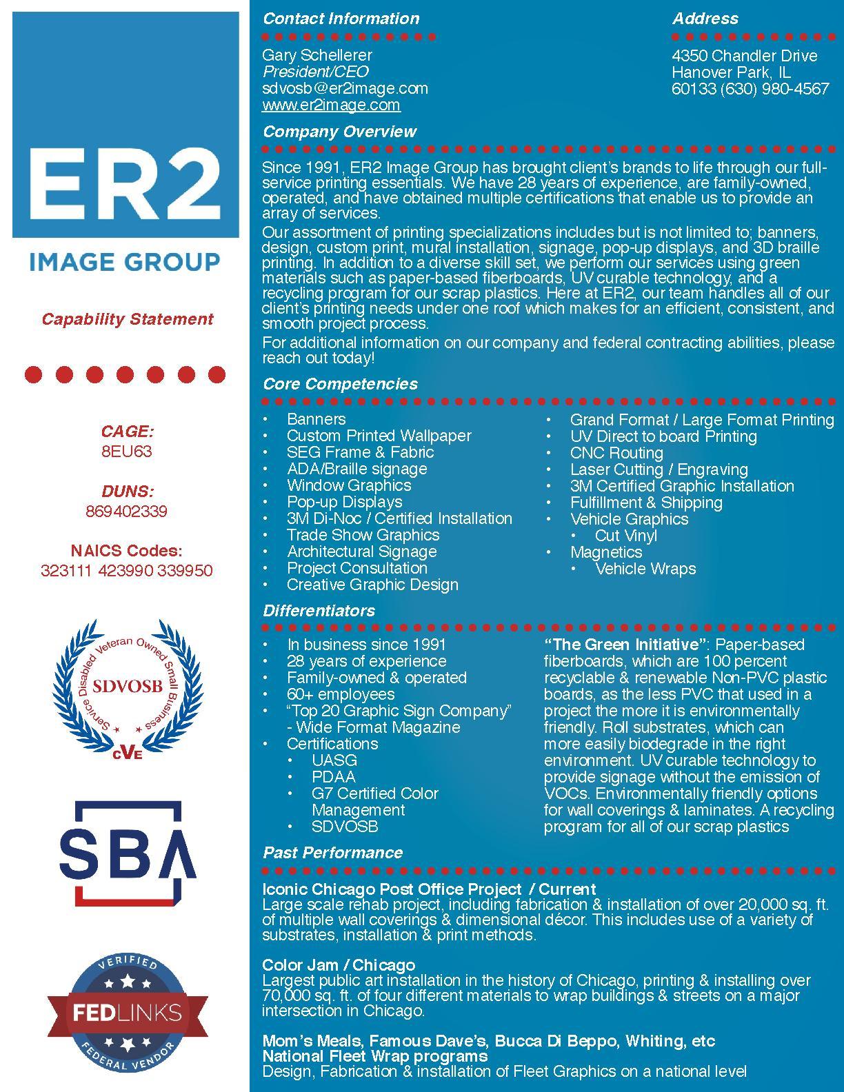 Er2 image group capability statement