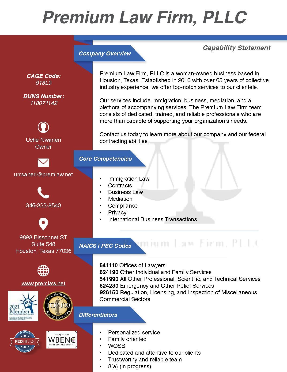 Premium law firm  pllc