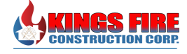 Kings fire construction corp logo