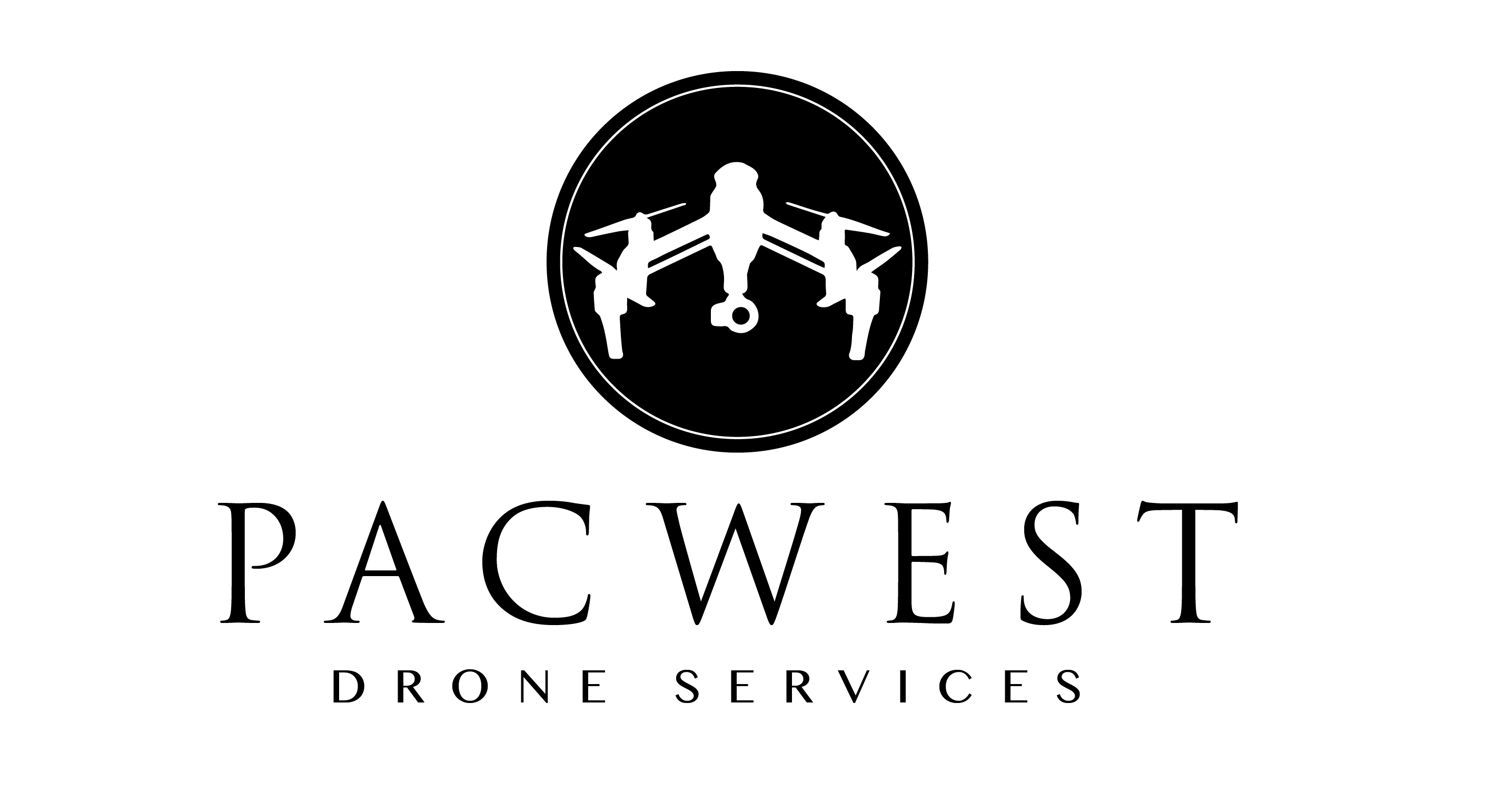 Pacwest drone services logo stacked blk copy