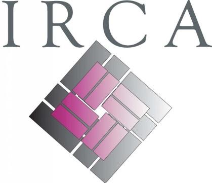 Blk grey maroon irca logo