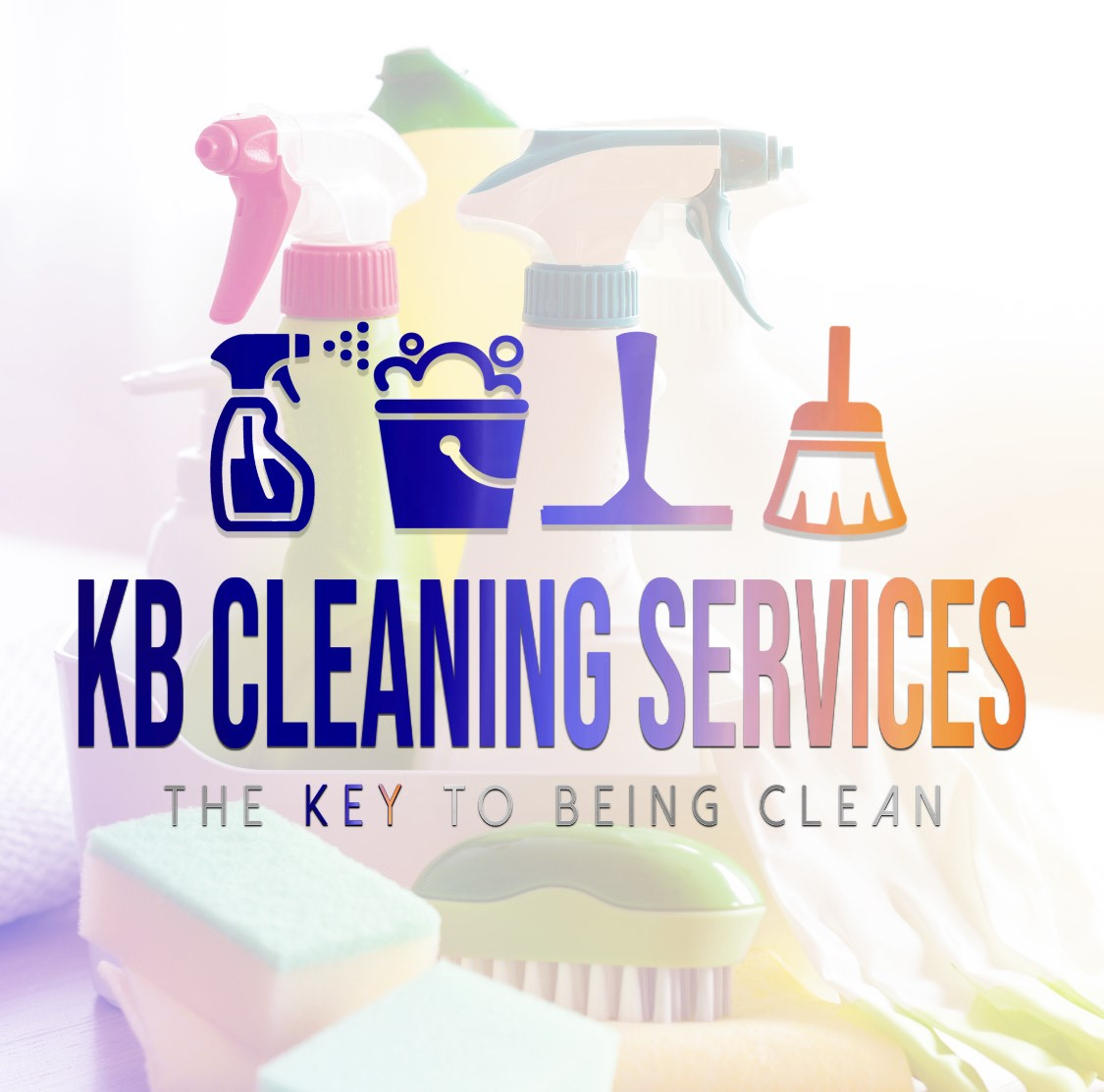 Kb cleaning services white logo products
